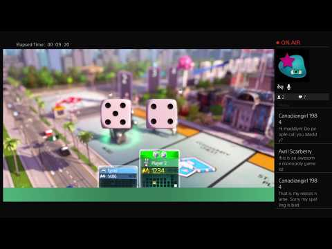 Lordblueeyes/FrankieG Staring Madelyn, let's play Monopoly Live PS4 Broadcast