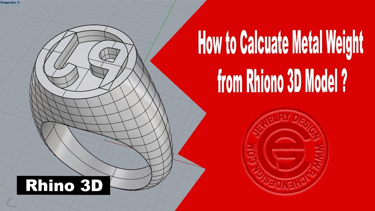 Jewelry CAD Design Tutorial #21: How to Calcuate Metal Weight from Rhino 3D  Model (有中文字幕)