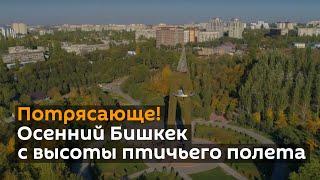 Потрясающе! Осенний Бишкек сняли с дрона