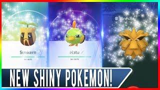 3 NEW SHINY POKEMON RELEASED IN POKEMON GO! Shiny Pineco, Shiny Natu & Shiny Sunkern in the Wild Now