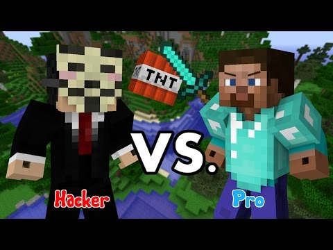 Hacker VS. Pro - Minecraft PART 1