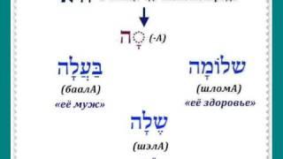 Урок № 21  Местоименные суффиксы единичного объекта в иврите