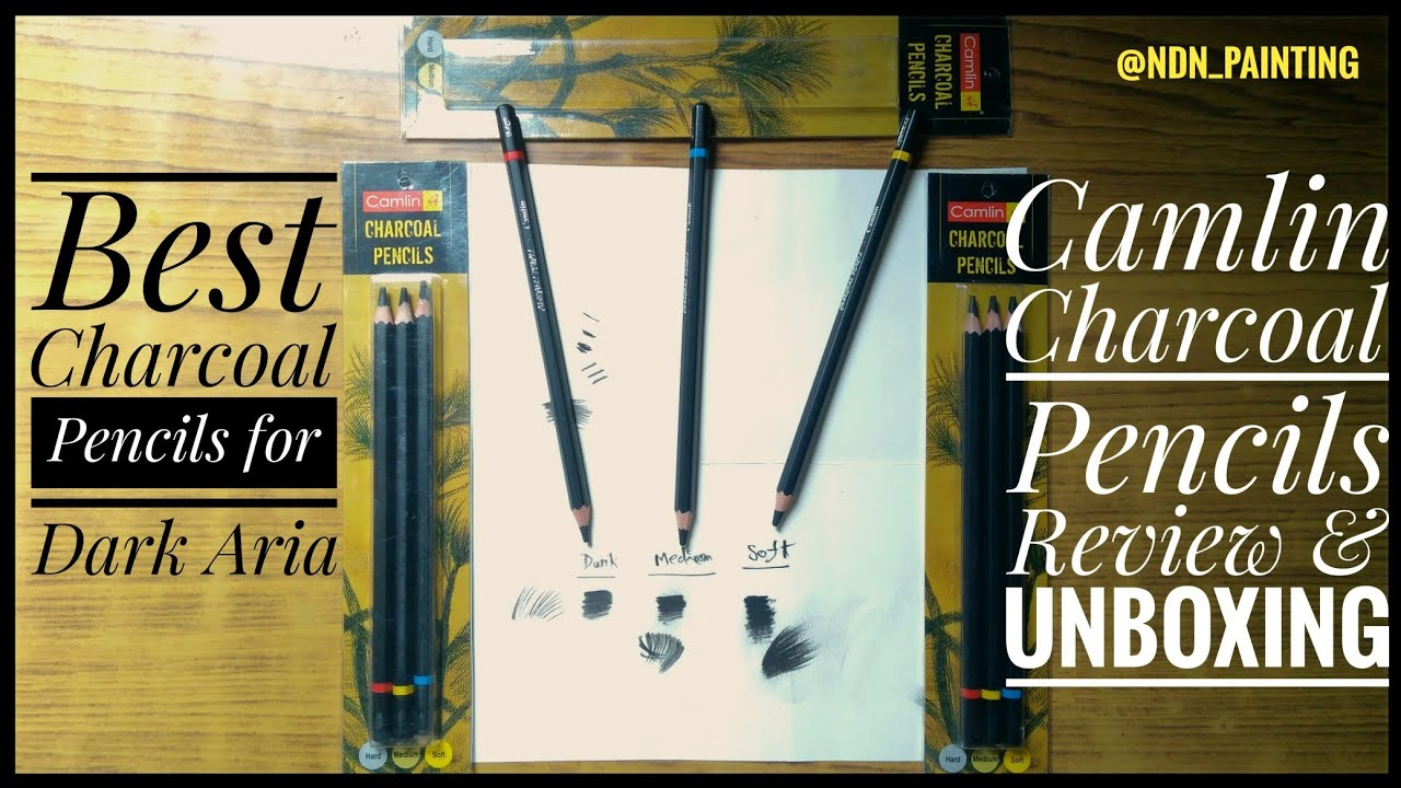 Camlin Charcoal Pencils Review & Unboxing/ Best Charcoal ...