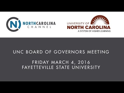 UNC Board of Governors Meeting | March 4, 2016