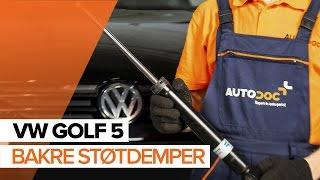 Se en videoguide om hvordan du skift VW GOLF Støtdemper