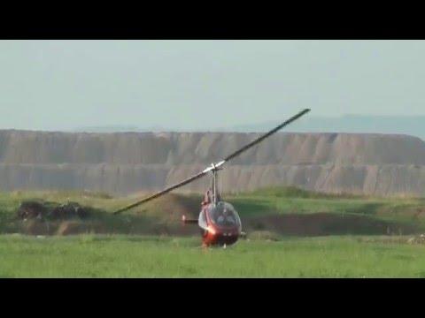 Gyroplane roll over crash