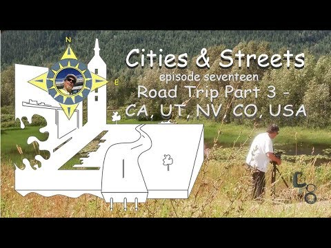 CA, UTAH, NV,  CO USA: Road Trip part 3: Cities & Streets: episode #17