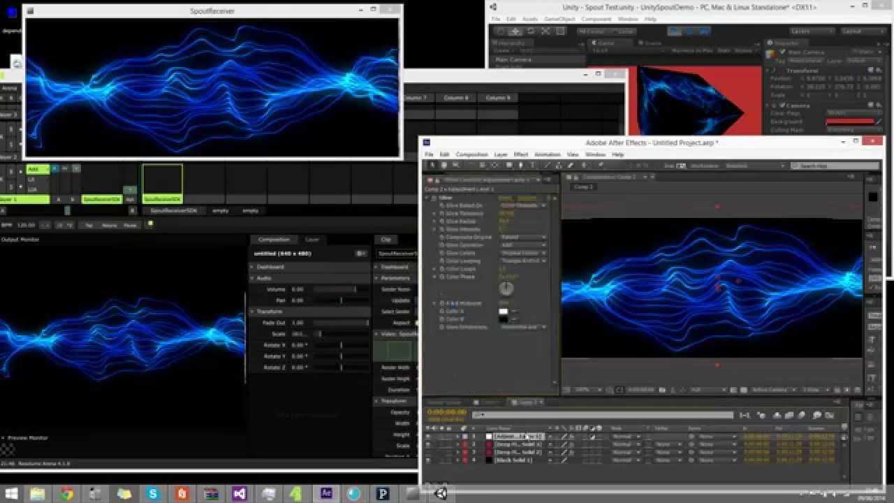 Spout [Syphon on Windows] After Effects Plugin