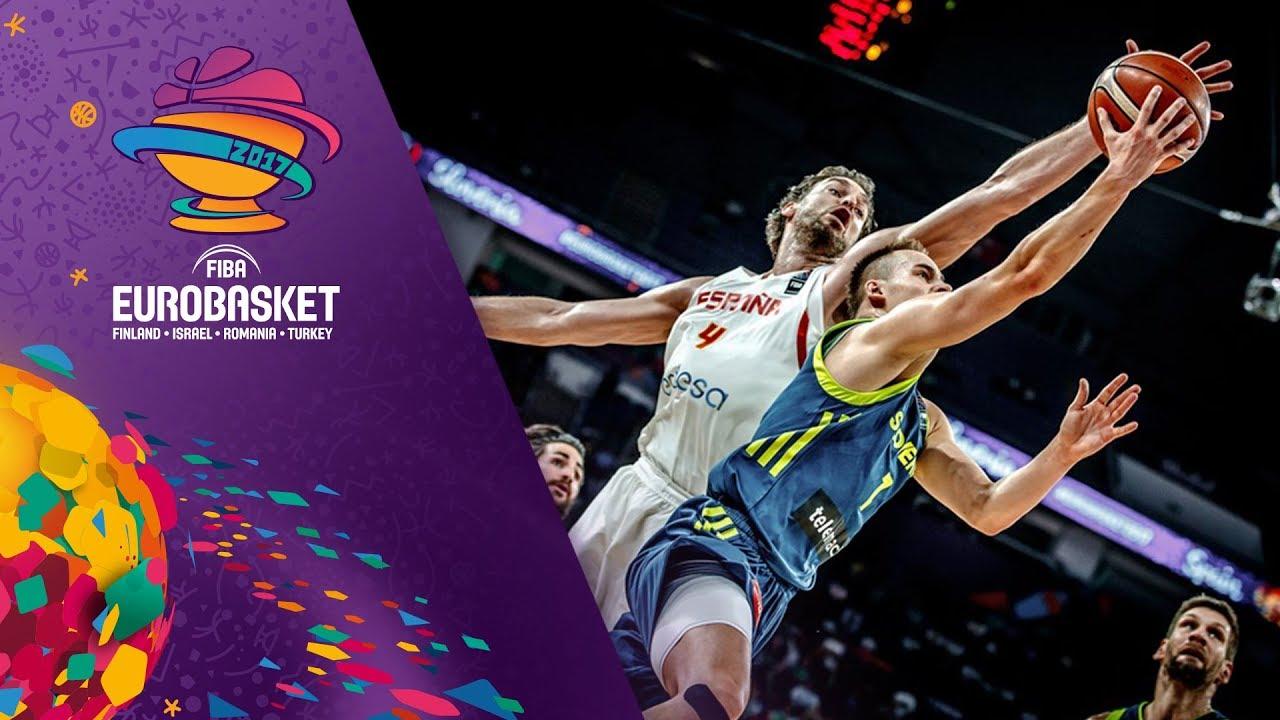 Spain v Slovenia - Highlights - Semi-Final - FIBA EuroBasket 2017