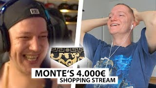 Justin reagiert auf Montes 4000€ Shopping Stream.. | Reaktion