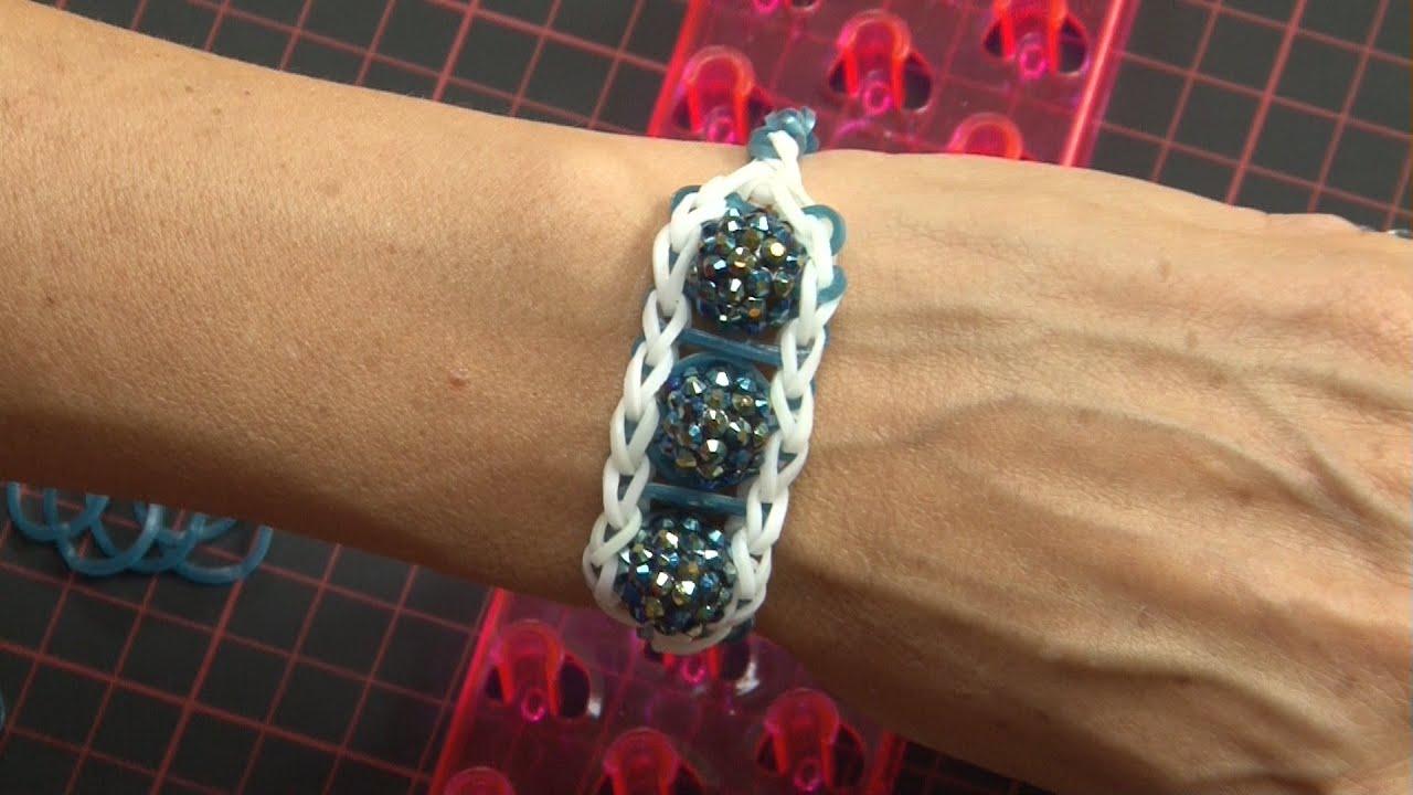 ideen mit herz loom b nder armband idee nr 3 mit webrahmen kristall perlen youtube. Black Bedroom Furniture Sets. Home Design Ideas