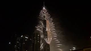 Burj Khalifa 2017 Fireworks | Dubai Happy New Year Show (Real)