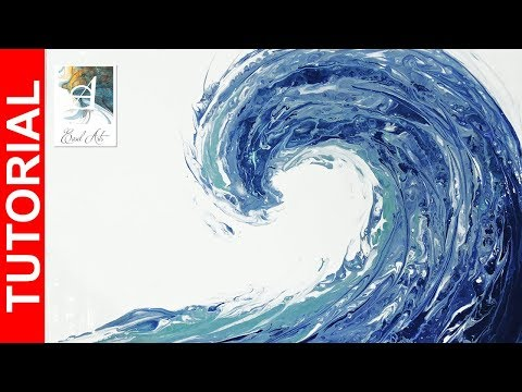 Acrylic Pour Tutorial - How to Pour a Perfect Ocean Wave