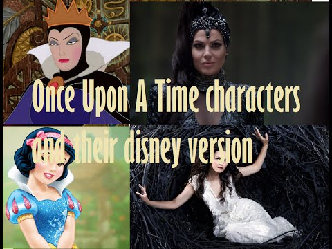 ce Up A Time characters and their Disney versis