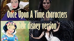 Once Upon A Time characters and their Disney versions