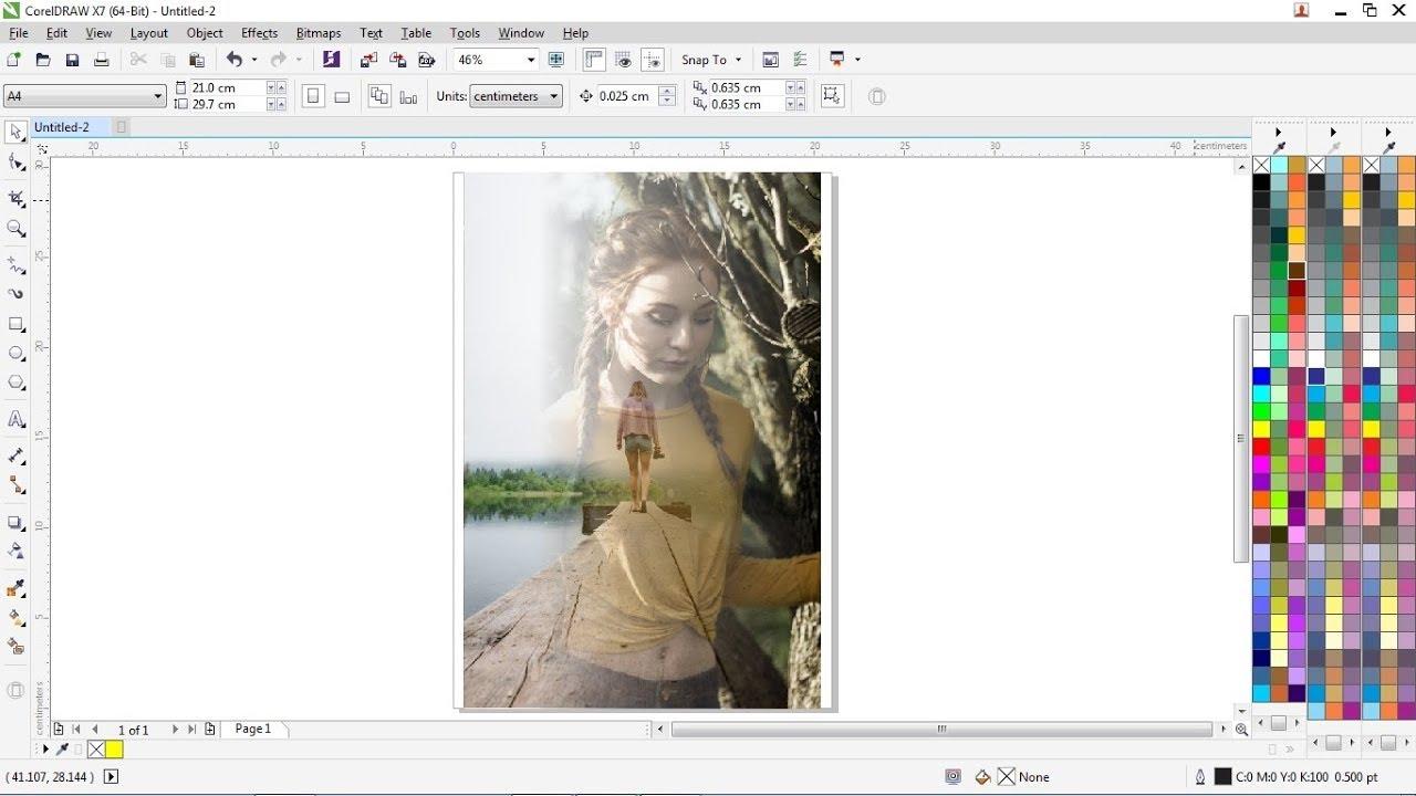 Cara Cepat Edit Foto Transparan CorelDRAW X7 - YouTube