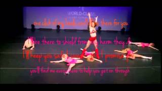 Dance moms - lift you up (Kinky boots)lyrics