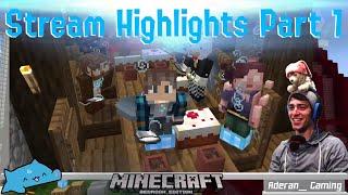 Minecraft Stream Highlights with ThatBaldGamer - Part 1