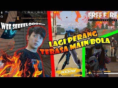 PERANG TAPI KQ TERASA NONTON BOLA (ngakak) - GARENA FREE FIRE INDONESIA