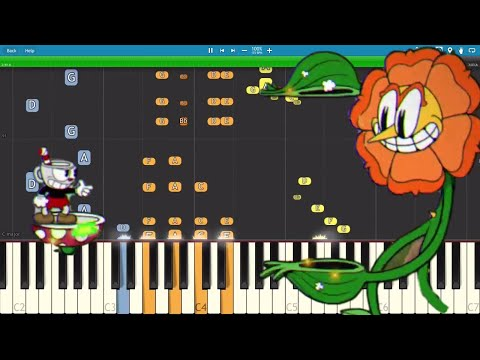 Cuphead - Floral Fury - Piano Remix - Cover / Tutorial