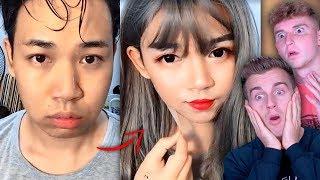 VIRAL BOY ASIAN MAKE UP TRANSFORMATION TUTORIAL
