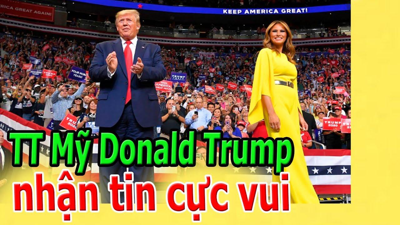 Tổng thống Mỹ Donald Trump nhận tin rất vui