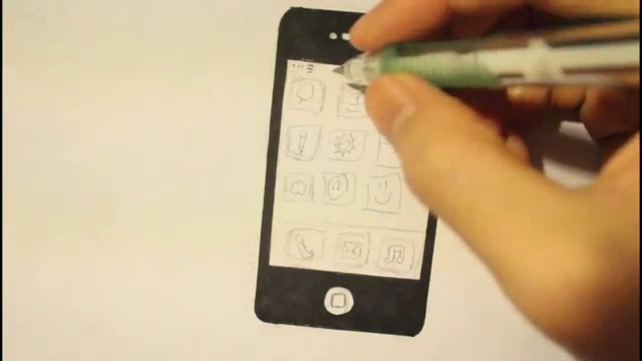 Smartphone How To Draw A Cute Cartoon Mobile Phone I