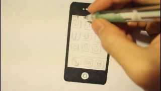 Smartphone - How to Draw a Cute Cartoon Mobile phone-i phone-5c-6(https://www.youtube.com/user/2Easy2Draw Watch in HD: Smartphone - How to Draw a Cute Cartoon Mobile phone 5c, 5s, or iphone 6. Is is a step by step how ..., 2014-03-22T21:07:32.000Z)
