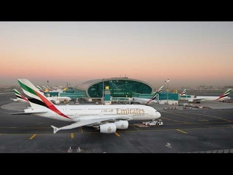 TravelWise with Phil Blizzard in Dubai visiting Emirates Concourse A, Dubai Airport