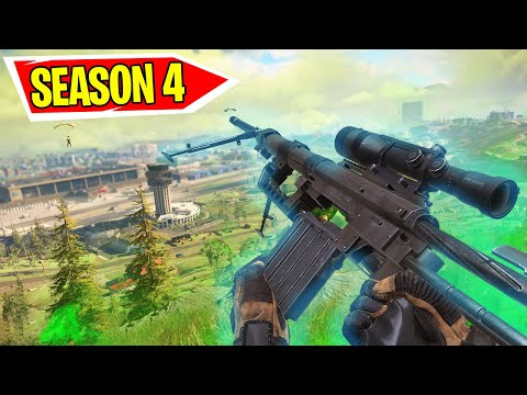 WARZONE - NEW SEASON 4 WEAPONS, BATTLE PASS, SKINS, & MAP CHANGES!