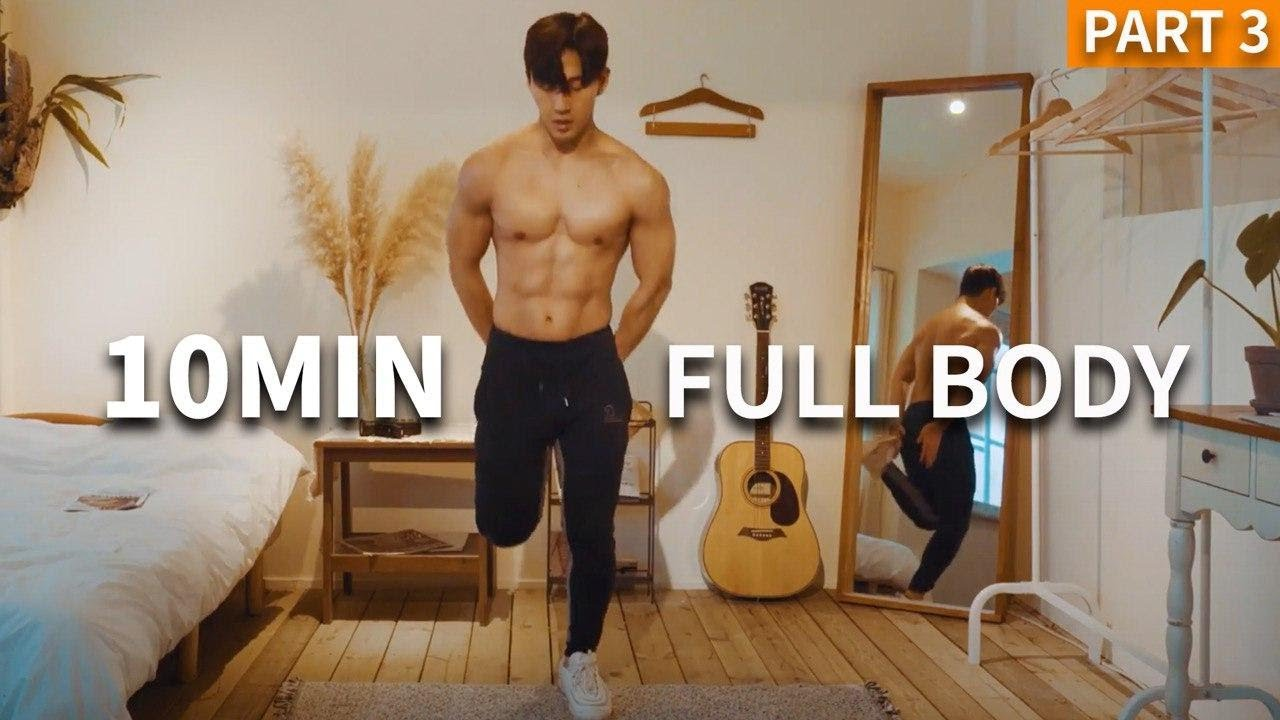 FAT BURNING FULLBODY WORKOUT (ft. 10 MIN TABATA)ㅣ전신 칼로리 불태우기 운동 (ft. 10분 타바타)