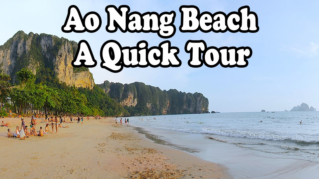 Ao Nang Beach: A short tour. Ao Nang Krabi Thailand. - YouTube