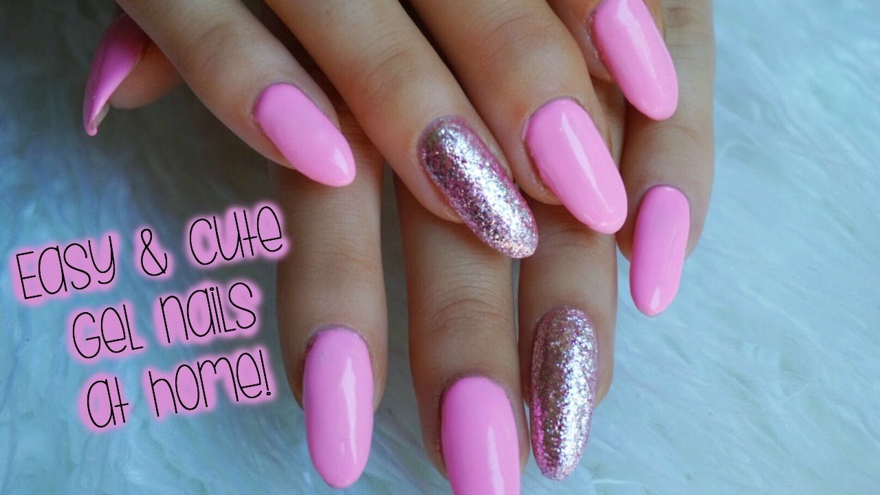 easy and cute gel nails home-ft