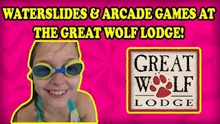 Great Wolf Lodge Arcade & Waterslides! Kawaii Squishy Claw Machine Win, hey it counts! BIG BIG FUN!