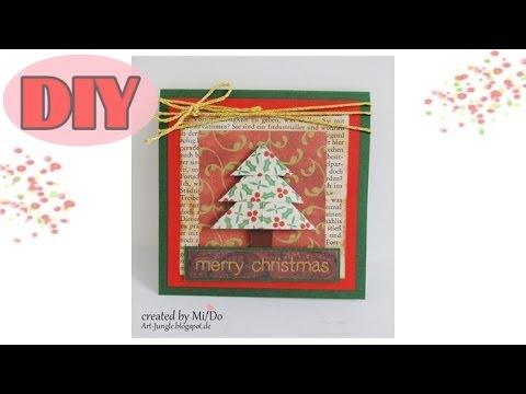 weihnachtskarten selber basteln 1 weihnachtsbaum. Black Bedroom Furniture Sets. Home Design Ideas