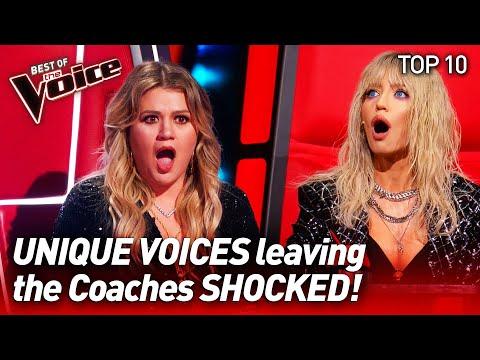 The most UNIQUE VOICES on The Voice #2   Top 10