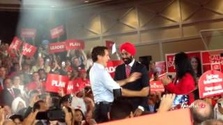 Liberal Rally for Change in Brampton - Justin Trudeau with Paul Martin
