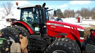 2013 Massey Ferguson 8690 with 1,489 Hours Sold Yesterday on Minnesota Auction