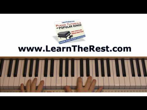 How to Play Fall for You  Secondhand Serenade Piano Tutorial