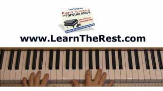 How to Play Fall for You by Secondhand Serenade Piano Tutorial