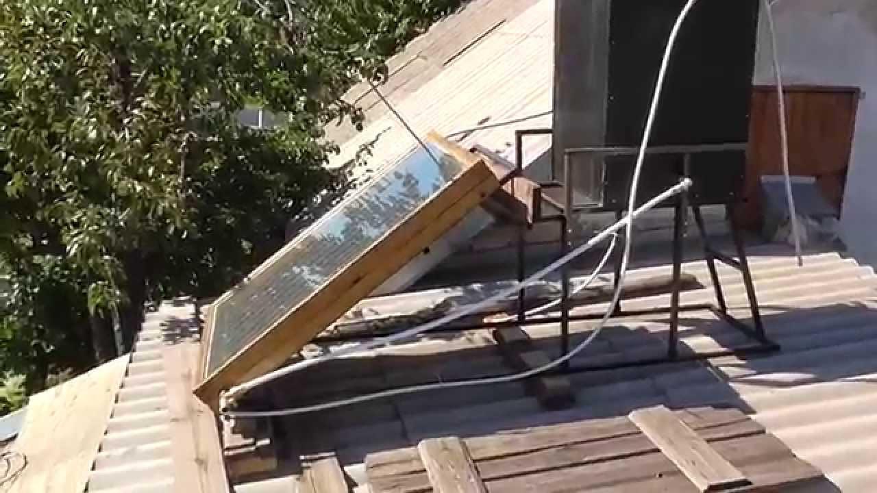 Солнечный коллектор своими руками видео ютуб фото 657
