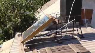 Солнечный коллектор нагреватель воды своими руками Часть 1