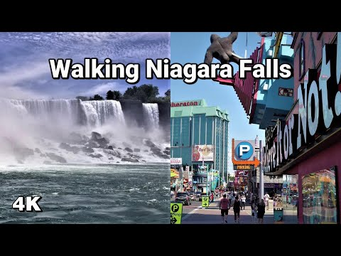 Walking Niagara Falls In 4K - Clifton Hill & The Falls