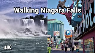 Walking Niagara Falls in 4K - Clifton Hill  the Falls