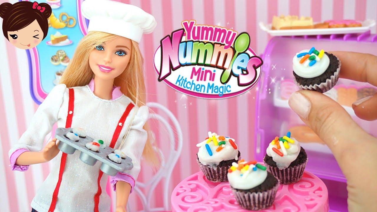 Barbie Cocina Pasteles De Verdad Con Yummy Nummies Juego De Cocina