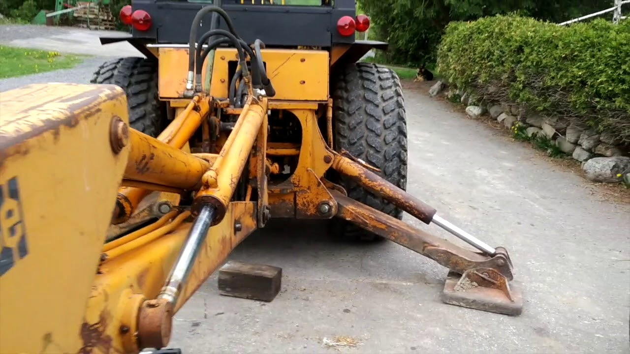 medium resolution of case 580b backhoe swing cylinder hose replacement