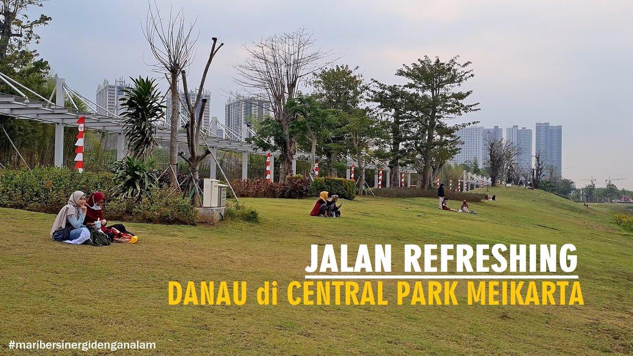 ⁴ᴷ⁶⁰ Walking Around The Lake of Meikarta Central Park - Danau Meikarta di Cikarang ~ Walking Tour