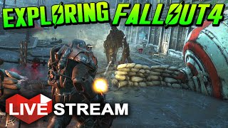 Fallout 4 Gameplay Exploration & Surviving the Wasteland!! - Live Stream (No Spoilers)