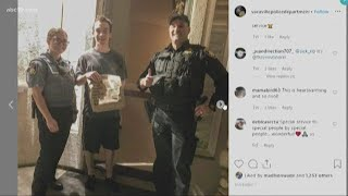 Vacaville Police officers complete food delivery after responding to car crash