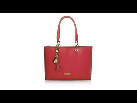 7373fdbac31c JOY IMAN Genuine Leather Timeless Chic Everything Tote - YouTube